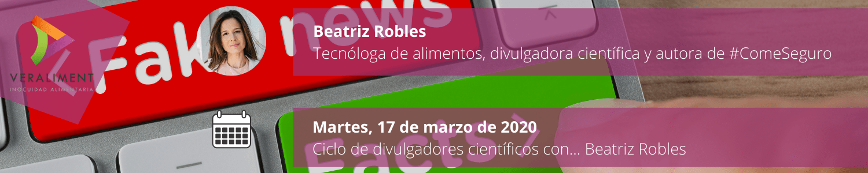 Ciclo Divulgadores Científicos Beatriz Robles